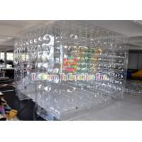 Cheap Transparent Inflatable Cube Tent For Event , Outdoor Closed Air Inflatable Tent for sale
