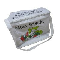 Best Reusable White Nylon Thermal Insulated Bags With Aluminum Foil, White Zipper wholesale