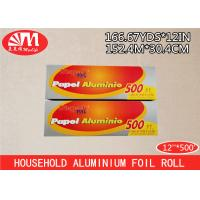 Best ISO Heavy Duty Catering Aluminium Foil Roll 12In X 20 Micron X 500Ft With Metal Cutting wholesale