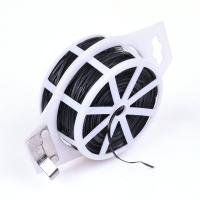 China PVC Coated Wire Twist Tie with Cutter Flat Wire on sale