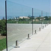 Cheap Deck Railing for Villa / Modern Stainless Steel Glass Railing / Balcony Railing Outdoor Design for sale