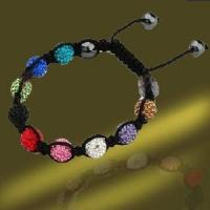 Best Fashion Shamballa Macrame Bracelet (BSL3067A-18CM) wholesale