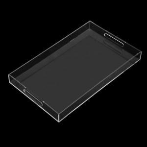 Best Plexiglass Clear Custom Acrylic Fabrication Acrylic Perspex Tray With Handles wholesale
