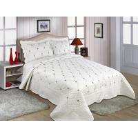 Best Embroidery Queen Size Geometric Quilt Cover , Cotton Quilt Covers Color Printed wholesale