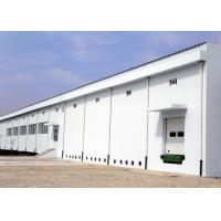 China Color sheet and insulation roof Steel Garment Workshop With Concrete Wall on sale