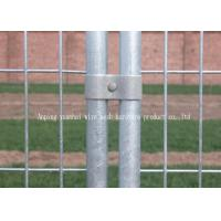 Commercial Construction Temporary Mesh Fencing , Galvanized Welded Wire Fence