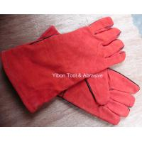 "Best 13"" Red color Leather Welding Gloves wholesale"