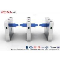Best Waterproof Drop Arm Access Control Turnstiles 304 Stainless Steel 2 RFID Readers wholesale