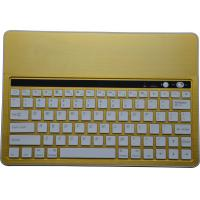 China Yellow Aluminum Slim Bluetooth Keyboard With Stand for different size tablet, Bluetooth Keyboard with Island-Style keys on sale
