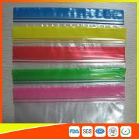Best Transparent Plastic Packing Ziplock Bags Antistatic with Zipper Top Blue Lip wholesale