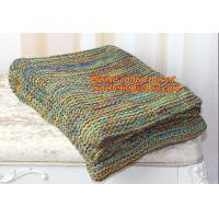 China Colourful Knitted Blanket Wholesale China Factory Blanket Spain on sale