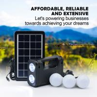 Best Working 30 Hours 6V 3W Home Solar Power System Solar energy system with LED Torch desk lamp led bulb wholesale
