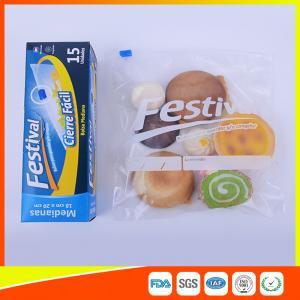 Best Transparent Ziplock Plastic Food Storage Bags Resealable , Zip Seal Food Bags wholesale