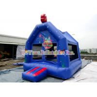Best Blue Inflatable Bouncy Castle With Themed Sea , Small Inflatable Bouncer For Kids wholesale