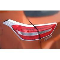 Best ABS Chrome Tail Car Headlight Covers For Hyundai ix25 2014 Rear Light Rim Decoration wholesale