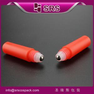 China 2ml roller bottle wholesale ,red color mini plastic bottle on sale