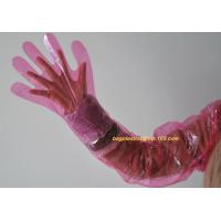 Best Cornstarch Made Biodegradable Compostable Disposable Food Hand Disposable Transparent Gloves, Long sleeves wholesale