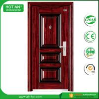 Best CE approved made in china metal photos steel door design anti-theft wrought inron safety door wholesale