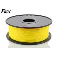 Cheap High elasticity 3mm TPE flexible 3D printer filament Yellow color ROHS for sale