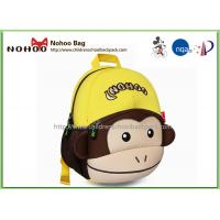 Best OEM 3D Monkey Style Waterproof Kids Backpack Girls School Rucksacks For Children wholesale