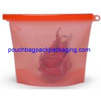 Best Silicone Food bag, Fresh vegetable Seal packing Bag, heat Resistant Food Storage Bag Contain 1500 ml wholesale