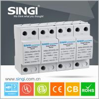 Best 4 Pole white Power Surge protector 20kA - 40kA 220V low voltage wholesale