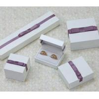 Best Fashion PU Paper Plastic Jewelry Gift Box With Bow Customized wholesale