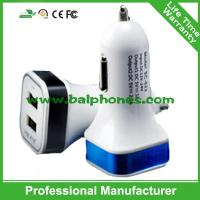 Best 5V 2.1A Square LED car charger with electronic cigarette charger price wholesale