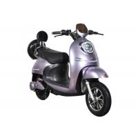Best Fast Charging Electric Motorcycle Scooter 55 Km / H Max Speed High Safety Purple wholesale