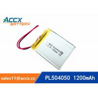 Best 504050 pl504050 3.7v 1200mah lipo battery li-polymer rechargeable li-ion batteria wholesale