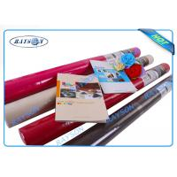 China AZO Free Red Non Woven TNT Fabric , Disposable Tablecloths 1m x 1m, 0.5m x 1.2m on sale