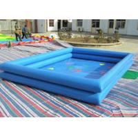Best Square Shaped Outdoor Inflatable Pool , Big Blow Up Pools Fire Retardant wholesale