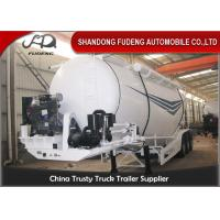 China 30tons to 80tons bulk cement tanker trailer for carrying bulk cement , coal ash on sale