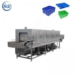 China Efficient Transfer Box Plastic Crate Washing Machine , High Pressure Washing Machine on sale
