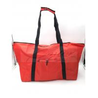 Best Water Resistant Reusable Folding Shopping Bags Red Color For Travel wholesale