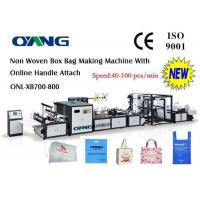 Best Computer Control Non Woven Bag Making Machine , Handle Bag Making Machine wholesale
