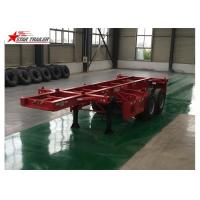 Best 2 Axles Tipper Hydraulic Flatbed Trailer , 50T Flatbed Truck Trailer wholesale