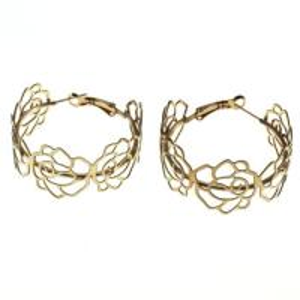 Best Nickel Free Stainless Steel Hoop Earrings Rose Gold Plated For Lady wholesale