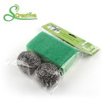 Best Stainless Steel 410/430 Metal Scrub Pad , Kitchen Abrasive Stainless Steel Scouring Ball wholesale