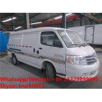 Best 2018s high quality and best price FOTON 4*2 LHD gasolinerefrigetator minivan vehicle for sale, cold room minibus wholesale