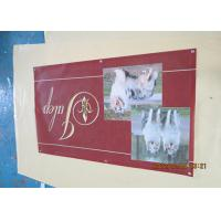 Best Solvent Printing PVC Coated Outdoor Mesh Banners With Coppper Grommets Sewing wholesale