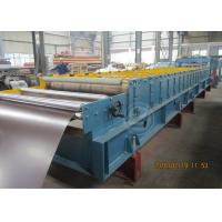 Best 235Mpa Feeding Coil 1219mm Width Metal Tile Roll Forming Machine With Stacking Use Panasonic PLC wholesale