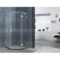 Best Mirror Color Diamond Glass Shower Enclosures Frameless With Stainless Steel Support Bar wholesale