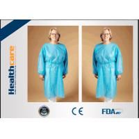 Buy cheap Safety Disposable Surgical Gowns / Medical Isolation Gowns Free Sample 35/40/45Gsm from wholesalers