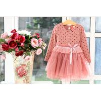 Best Hot cotton long sleeve dot net yarn princess girl dresses,kids dress,children dress wholesale