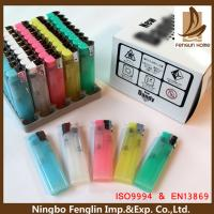 Best Customer Logo Printed ABS Refillable Cigarette Lighter Flint Gas Lighter 80x22x11.30mm wholesale