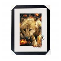 Cheap Amazing 5D 30*40CM Lenticular Picture With PS Frame / 3D Animal Images for sale