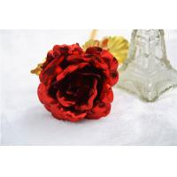 Best Wedding Gifts Red color Gold rose , 24k Gold Foil Rose with Based for Valentine's Day wholesale