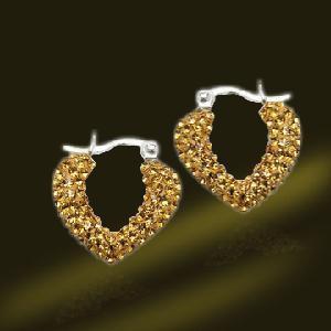 Best Heart Shape Crystal 925 Silver Earrings (ESA3403-A) wholesale