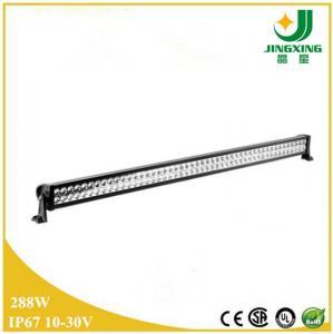 Best 288w aluminum housing semi truck led light bar JX8801-288W wholesale